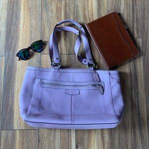 Lilac Coach Handbag